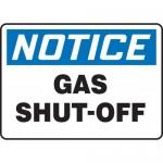 """Accuform MFXG805VA, 7″ x 10″ Aluminum Sign: """"Notice Gas Shut-Off"""""""