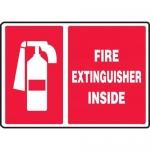 """Accuform MFXG907VA, Aluminum Graphic Sign """"Fire Extinguisher Inside"""""""