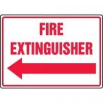 "Accuform MFXG911VA, Sign ""Fire Extinguisher"" & Left Arrow Symbol"
