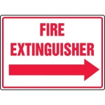 "Accuform MFXG912VA, Sign ""Fire Extinguisher"" & Right Arrow Symbol"