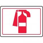 "Accuform MFXG913XL, Aluma-Lite Graphic Sign ""Fire Extinguisher Symbol"""