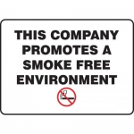 "Accuform MGNF172XL, Sign ""This Company Promotes a Smoke Free …"""