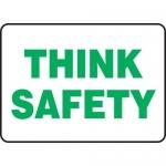 "Accuform MGNF501XL, 7″ x 10″ Aluma-Lite Sign: ""Think Safety"""