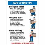 """Accuform MGNF515XP, 20″ x 14″ Accu-Shield Sign: """"Safe Lifting Tips"""""""