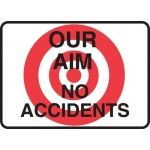 "Accuform MGNF522VA, 10″ x 14″ Aluminum Sign: ""Our Aim No Accidents"""