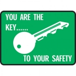 "Accuform MGNF532VA, Aluminum Sign ""You Are The Key… to Your Safety"""