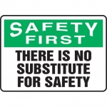 """Accuform MGNF914XT, Sign """"There is No Substitute for Safety"""""""
