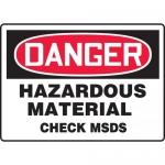 """Accuform MHCM001XP, Sign """"Danger Hazardous Material Check MSDS"""""""
