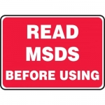 """Accuform MHCM500XP, Accu-Shield Sign """"Read MSDS Before Using"""""""