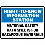 "Accuform MHCM501VP, Sign ""Material Data Sheets for Hazardous…"""