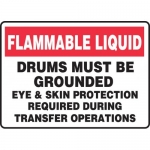 """Accuform MHCM505XF, Sign """"Flammable Liquid Drums Must Be Grounded…"""""""