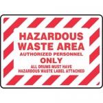 "Accuform MHCM506XF, Sign ""Hazardous Waste Area Authorized…"""