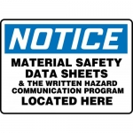 """Accuform MHCM805VS, Sign """"Material Safety Data Sheets & The …"""""""