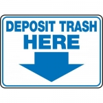 "Accuform MHSK509XP, 10″ x 14″ Accu-Shield Sign: ""Deposit Trash Here"""