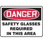 "Accuform MPPA003VA, OSHA Sign ""Safety Glasses Required in This Area"""