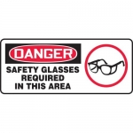 "Accuform MPPA014VP, Sign ""Safety Glasses Required in This Area"""