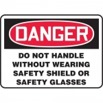 """Accuform MPPA017XT, Sign """"Do Not Handle Without Wearing Safety…"""""""