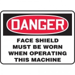 """Accuform MPPA018VP, Sign """"Face Shield Must Be Worn When Operating…"""""""