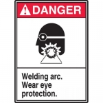 Accuform MPPA021XL, Aluma-Lite Welding Arc – Wear Eye Protection""