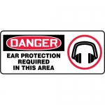 """Accuform MPPA025XL, Sign """"Ear Protection Required in This Area"""""""