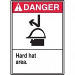 "Accuform MPPA030XT, 10″ x 14″ Dura-Plastic Sign: ""Hard Hat Area"""