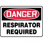 """Accuform MPPA034VP, Plastic Sign """"Danger Respirator Required"""""""