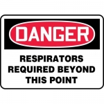 """Accuform MPPA035XT, Sign """"Respirators Required Beyond This Point"""""""