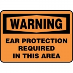 """Accuform MPPA301XP, Sign """"Ear Protection Required in This Area"""""""