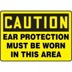 """Accuform MPPA603XP, OSHA Sign """"Ear Protection Must Be Worn in …"""""""