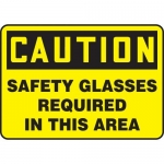 """Accuform MPPA617VP, Sign """"Caution Safety Glasses Required in …"""""""