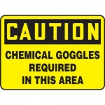 "Accuform MPPA618VA, Sign ""Caution Chemical Goggles Required in …"""