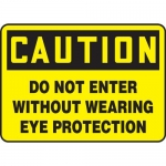 """Accuform MPPA619VS, Sign """"Do Not Enter Without Wearing Eye Protection"""""""