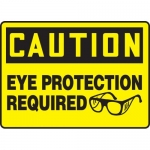 """Accuform MPPA622VS, Vinyl Caution Sign """"Eye Protection Required"""""""