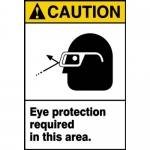 """Accuform MPPA624VP, ANSI Sign """"Eye Protection Required in This Area"""""""