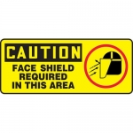 """Accuform MPPA626XL, Sign """"Caution Face Shield Required in This Area"""""""