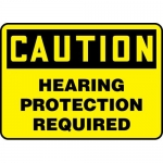 """Accuform MPPA630XL, OSHA Sign """"Caution Hearing Protection Required"""""""
