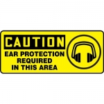 "Accuform MPPA632XL, OSHA Sign ""Ear Protection Required in This Area"""