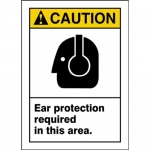 """Accuform MPPA633VS, ANSI Sign """"Ear Protection Required in This Area"""""""