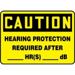 """Accuform MPPA635VS, Sign """"Hearing Protection Required After_HR_db"""""""