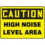 """Accuform MPPA638XP, Accu-Shield Sign """"Caution High Noise Level Area"""""""