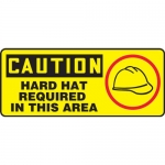 """Accuform MPPA641XT, Sign """"Caution Hard Hat Required in This Area"""""""