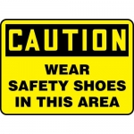 """Accuform MPPA645VP, Sign """"Caution Wear Safety Shoes in This Area"""""""