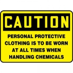 """Accuform MPPA648XL, Sign """"Personal Protective Clothing is to Be …"""""""