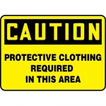 """Accuform MPPA649VP, Sign """"Protective Clothing Required in This Area"""""""