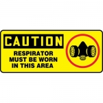 """Accuform MPPA651XT, OSHA Sign """"Respirator Must Be Worn in This Area"""""""