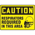 """Accuform MPPA652XP, Sign """"Caution Respirators Required in This Area"""""""