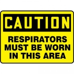 """Accuform MPPA653XL, Sign """"Respirators Must Be Worn in This Area"""""""