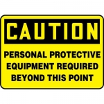"""Accuform MPPA656XL, Sign """"Personal Protective Equipment Required…"""""""