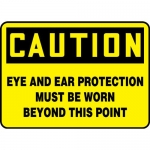"""Accuform MPPA657XP, OSHA Sign """"Eye and Ear Protection Must Be Worn…"""""""