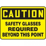 """Accuform MPPA703XT, Sign """"Safety Glasses Required Beyond This Point"""""""